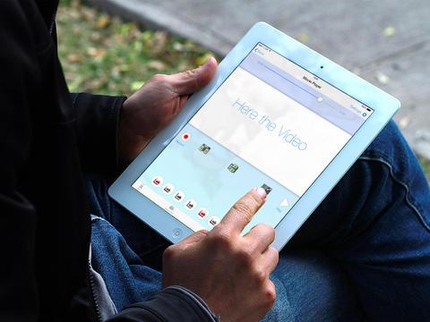 editor de vídeo iPad
