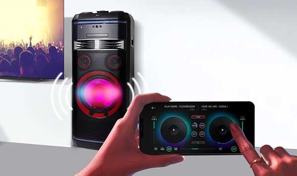 app para controlar barra de sonido LG